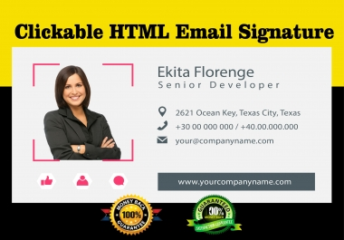 I will create HTML email signature only in one day