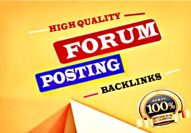 Manually Create 50+ da/pa 50 forum posting backlinks