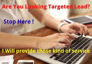 I will provide any kind of b2b lead generation & web scraping