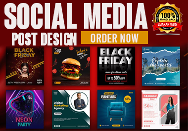 I will designs Instagram ,Facebook ,Social media posts and YouTube thumbnails