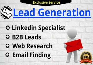 I Will do 100 targeted Linkedin lead generation for your business