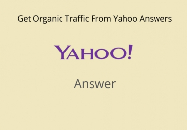 Promote your website 10 High Quality Yahoo Answers with your Keyword & Url