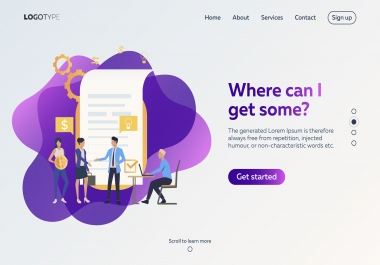 I will create a modern responsive landing page design