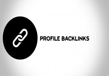 I will do 150 high quality profile backlinks