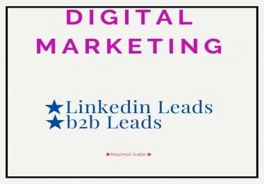 I Will Provide B2B Lead,LinkedIn Lead Generation