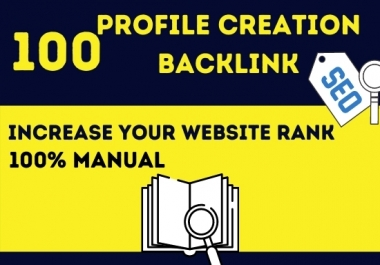 I will create manually High Authority DA50-100 (100 best) profile backlinks