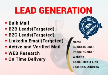 I will do lead generation to targeted person or company by web scraping.