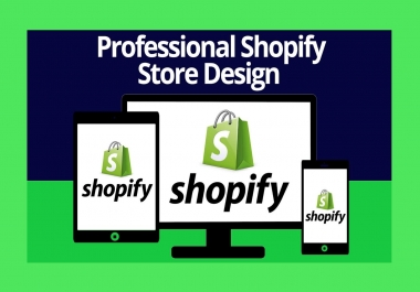 I will design a beautiful shopify drop shipping store