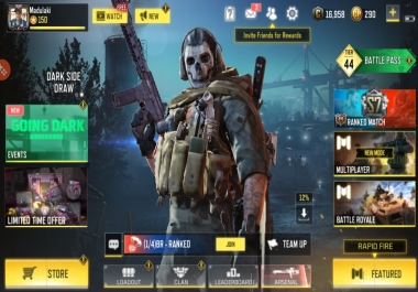 Game boosting and account selling(pubg,cod mobile)