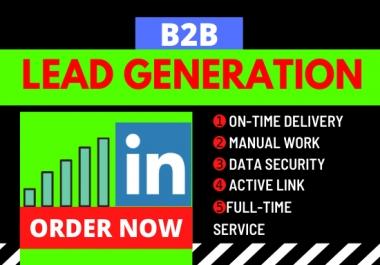 I will generate b2b LinkedIn lead generation