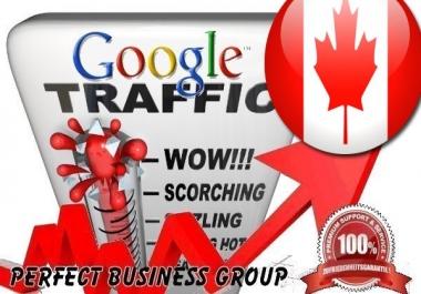 send 1000 visitors via Google.ca by Keyword to your website