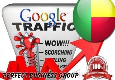 I send 1000 visitors via Google.bj Keyword to your website