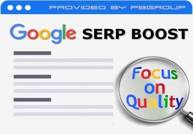 Google Keyword (SERP) & Authority BL's (Tier 3) Boost