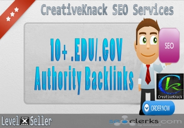 10+ .EDU/.GOV High Authority Backlinks only for $1