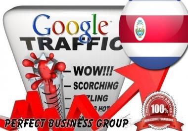 I send 1000 visitors via Google.co.cr by Keyword to your website