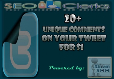 Give You 20 unique HQ comments on your  Tweet for $1