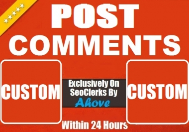Get Instant 20 Comments Random Or Custom In Social Media Posts
