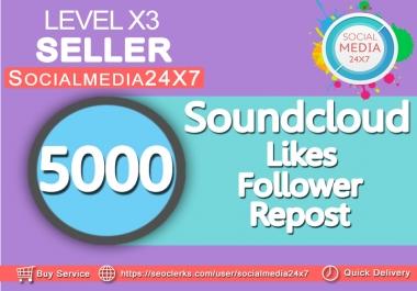 We provide 5000 soundcloud likes/repost