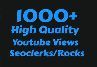 Add 1000+ High Retention Youtube view's  for $1