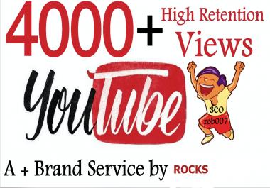 Add 4000+ Good Retention Youtube views