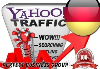 Organic Visitors from Yahoo DE (Deutschland) with your Keyword