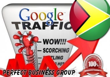 Organic traffic from Google.gy (Guyana) with your Keyword