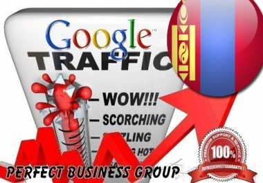 Organic traffic from Google.mn (Mongolia) with your Keyword