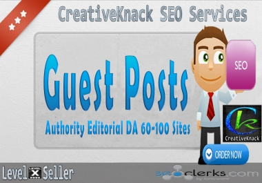 Write And Publish 5X Guest Posts On 5 Top Authority Editorial DA 88-100 Sites only