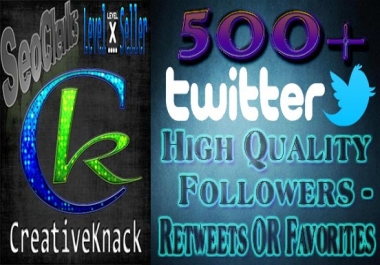 All in one,Get You 500+ High Quality Twitter Follower... for $1