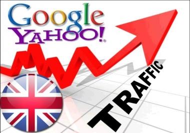 Organic traffic from Google.co.uk + Yahoo! UK & Ireland