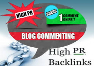 do Manual Blog Comments on 2xPR7 5xPR6 10xPR5 15xPR4 Dofollow High PR on Actual Pages for