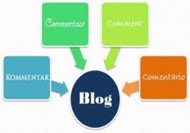 provide 50 High PR Blog Comments PR6x3 PR5x7 PR4x15 PR3x25 Dofollow Backlinks for