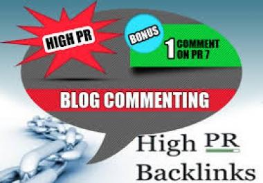 do Manual High Quality 1PR7 2PR6 5PR5 5PR4 5PR3 7PR2 DOFOLLOW Blog Comments for