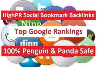 "build ""750+"" HighPR Social Bookmarks for Unlimited URLs and Keywords + PING"