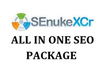 run Senuke xCR Service to do Safest Backlinks | SEO NukeX in 48 hours