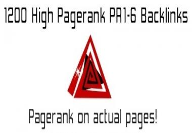 500 High Pagerank PR1 To PR6 Blog Comment Backlinks Blast