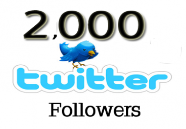 Add 2,000+  Good Quality and Looking Real Twitter Fol... for $1