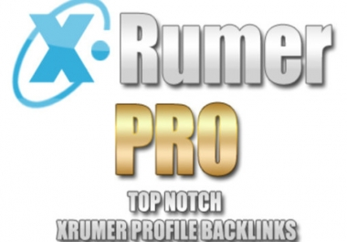 create 10000++++ Xrumer Profile Backlinks and ill Ping All