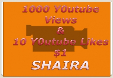 Add 1,000+ You Tube views & 10 Likes Free on your... for $1