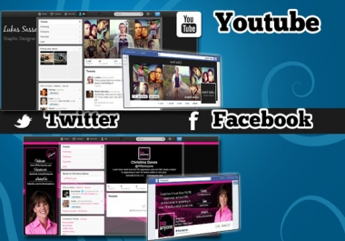 create a youtube, twitter background or facebook cover