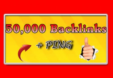 """"""" build 50,000 Blog Comment Backlinks And Ping All Links"""""""