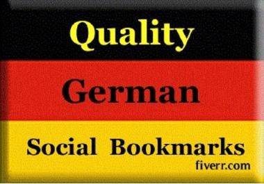 provide 60 German quality backlinks, from german high PR social bookmarking site####