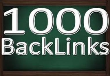 get 1000 BACKLINKS to your Site, Blog Backlinks + Free Backlinks as a Bonus
