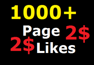 Add 1000 Non drop Fast Page Likes