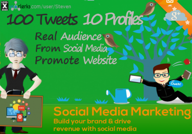 Get 100 Tweets - Get your link tweeted 10 times on 10... for $1