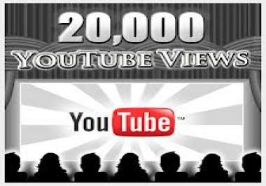 Let you 2000 HR youtube views with 20 likes for $1