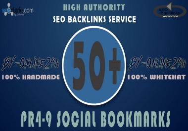50+ High Authority PR4-9 Social Bookmarks only