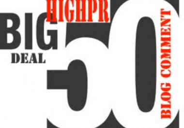 do MANUAL 50 Highpr Blog Comment 10PR5 10PR4 15PR3 15PR2 Dofollow backlinks