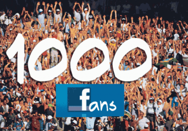 give you 1000 verified Facebook fan page like within 48 ... for $1