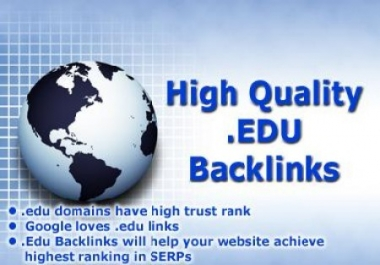 Give you relevant 400 .EDU SEO backlinks